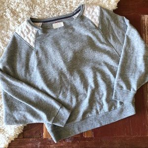 Levi's | Dolman Star Gathered Back Gray Sweatshirt